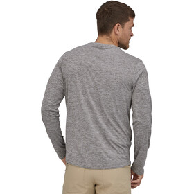 Patagonia Cap Cool Daily Graphic Long Sleeve Shirt Herre line logo ridge/feather grey
